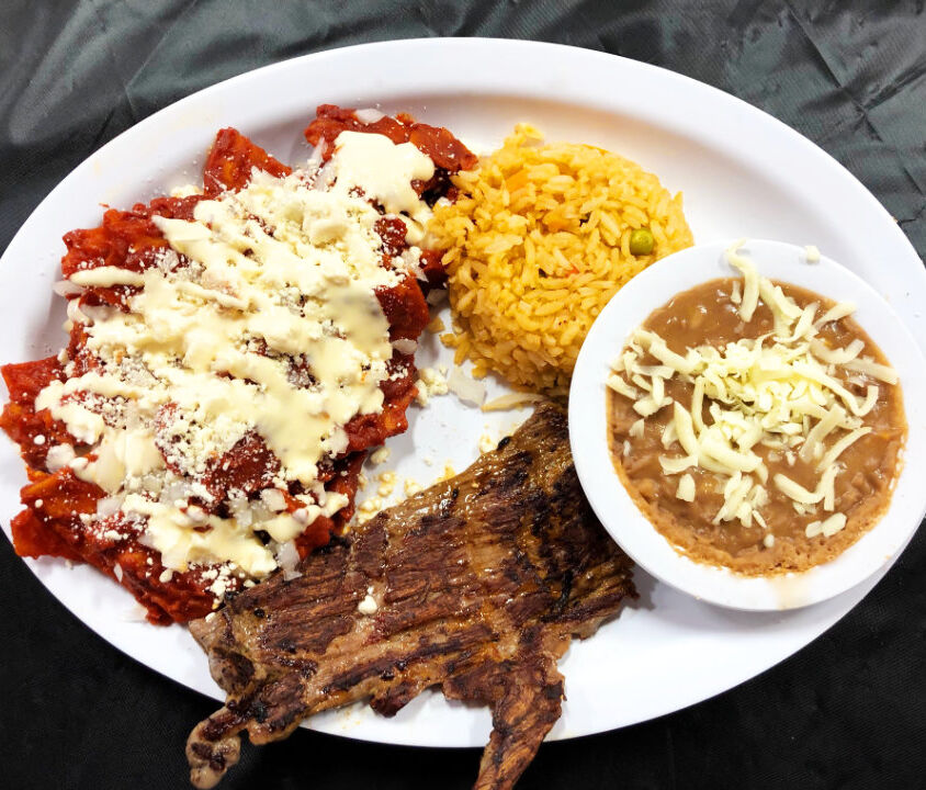 Chilaquiles and Steak