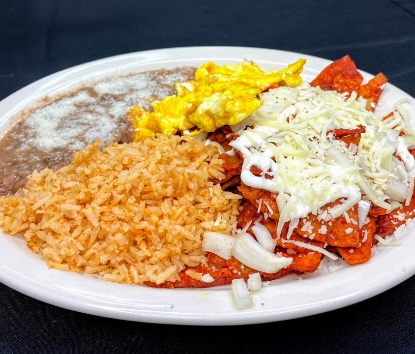 Chilaquiles with Eggs